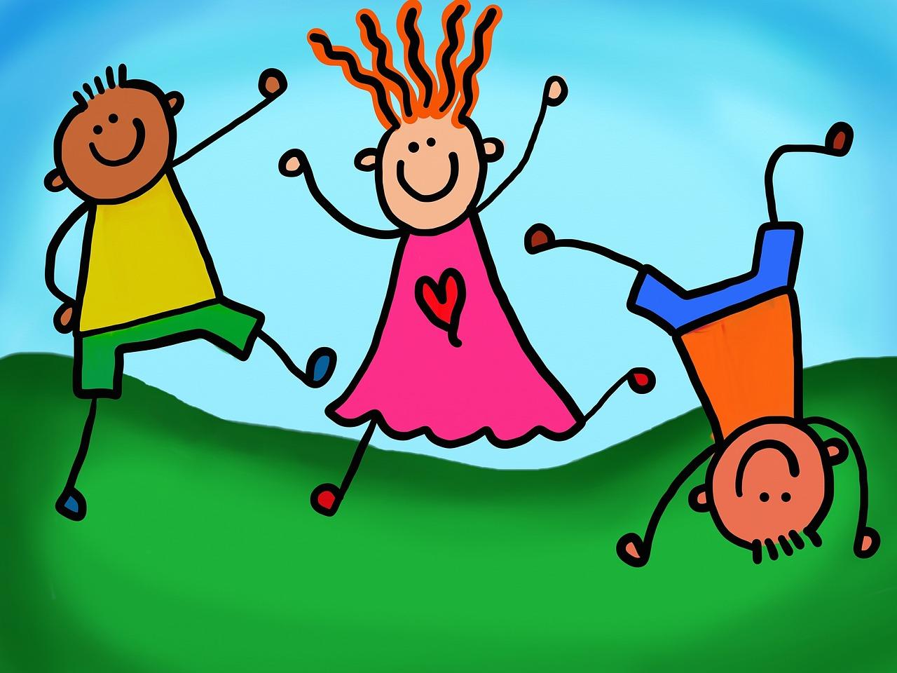 gelukkige kinderen hart